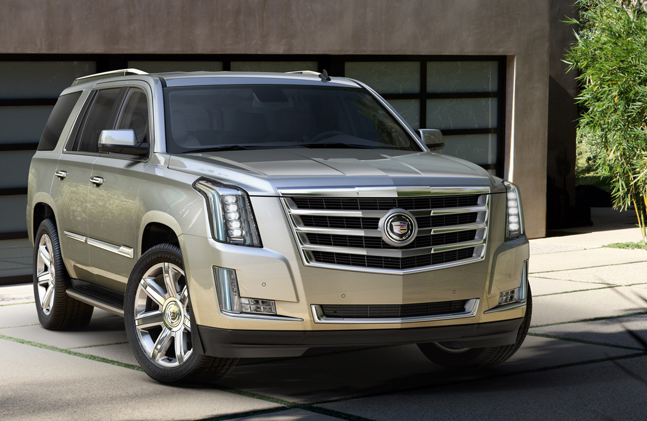 2015 cadillac escalade makes nyc debut. Black Bedroom Furniture Sets. Home Design Ideas