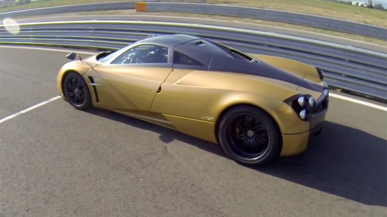 Joy of Machine: Pagani Huayra Gets Full Workout on Track – POV Video