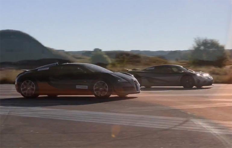bugatti veyron vitesse vs. koenigsegg agera r – video