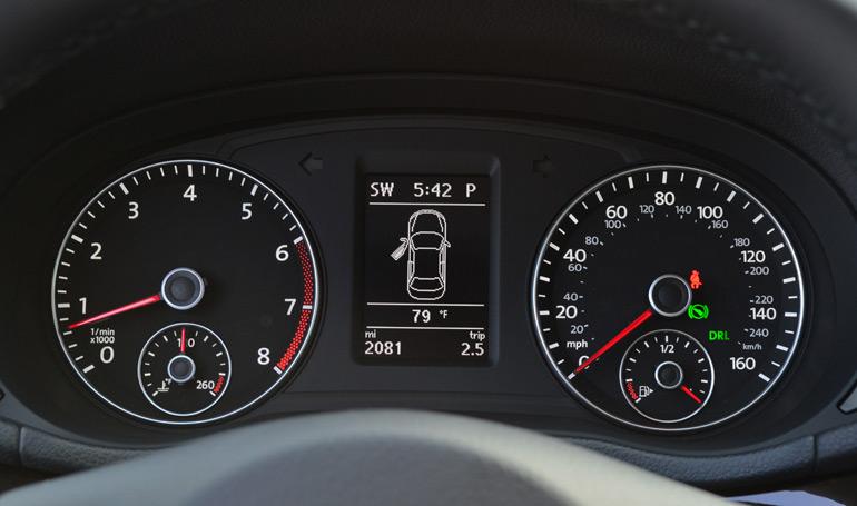 2014 Volkswagen Passat V6 Sel Premium Gauge Cluster