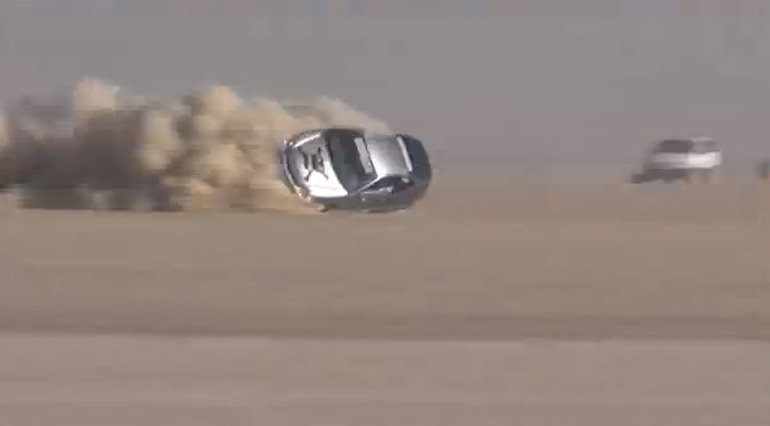 Honda Insight Has Horrific Crash Nearing 200 mph at El Mirage