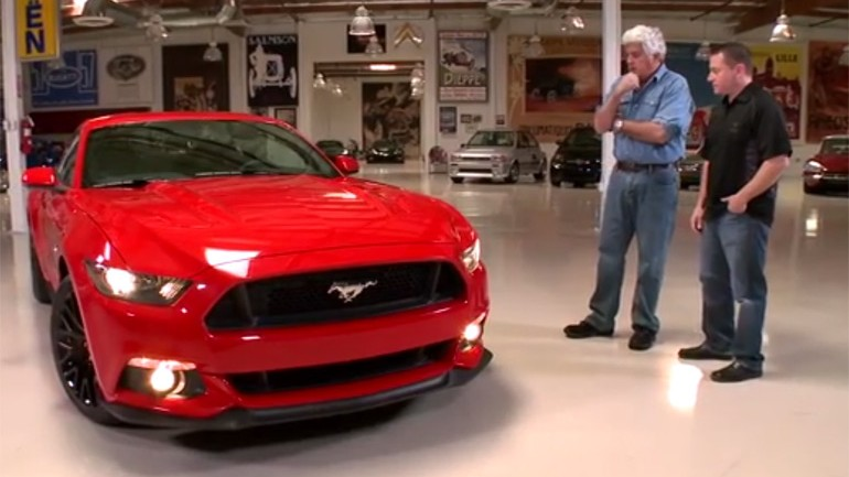 Jay Leno Runs down 2015 Mustang and Celebrates 50 Years of Mustang with Lee Iacocca – Video