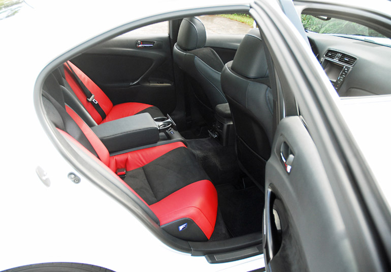 2014 Lexus ISF Rear Seats Done Small