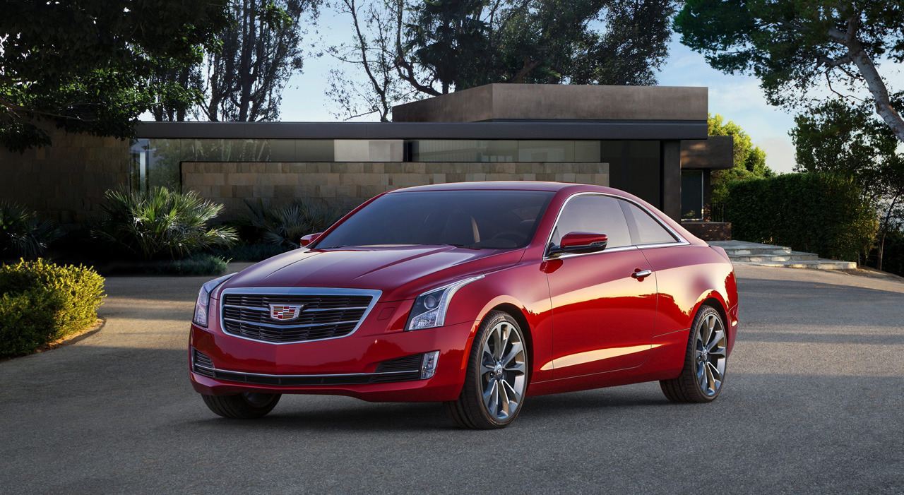 2015 cadillac ats coupe shows its clean two door look at 2014 naias. Black Bedroom Furniture Sets. Home Design Ideas