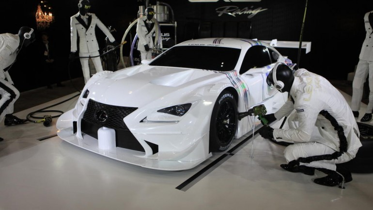 Lexus RC F GT500 Race Car Displayed at 2014 Tokyo Auto Salon