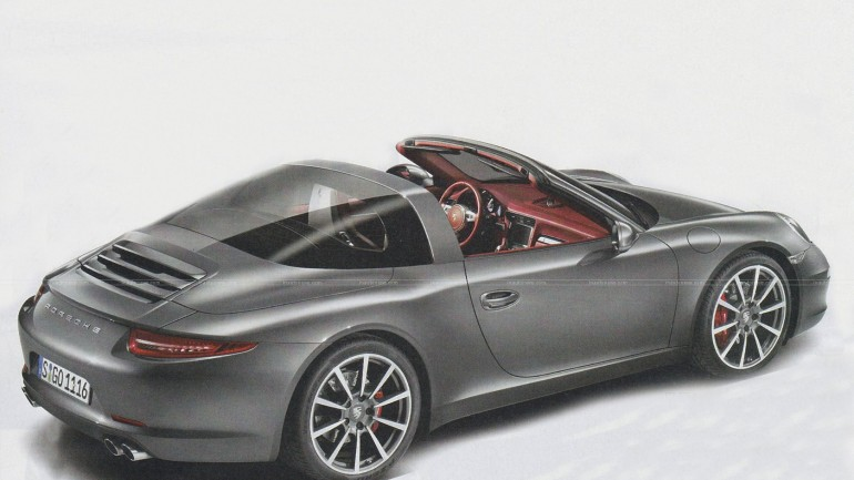 New Porsche 911 (991) Targa Image Leaked Before Detroit Debut