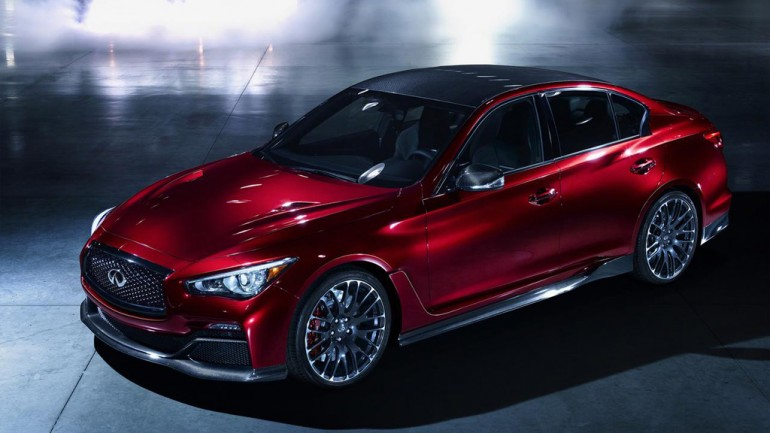 Infiniti Q50 Eau Rouge Concept Sounds Like a Nissan GT-R: Video