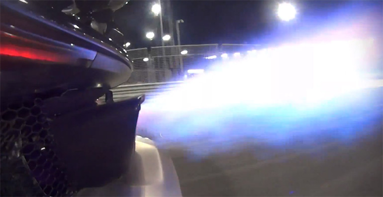 McLaren P1 Takes Flame-Throwing Crown Making Rounds at Yas Marina