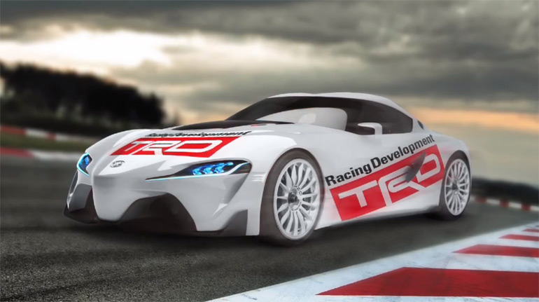 How To Create a Toyota FT-1 Concept TRD Race Car in Photoshop: Video