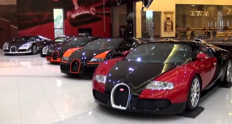 Video: One Of the World's Most Ridiculous Collection of Supercars