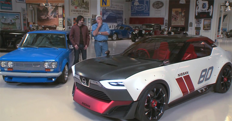 Nissan IDx NISMO Concept In Jay Leno's Garage w/ Datsun 510 – Video