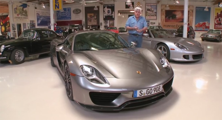 Jay Leno Gets Electrified with 2015 Porsche 918 Spyder: Video