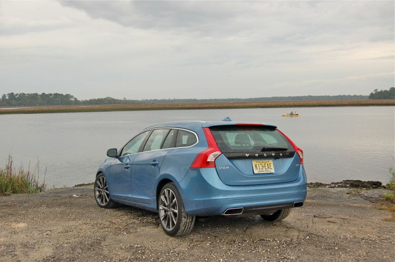2015 Volvo V60 Rear at Water