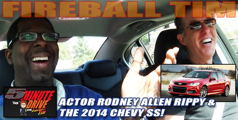 Actor Rodney Allen Rippy featured on 5Minute Drive with the 2014 Chevy SS…
