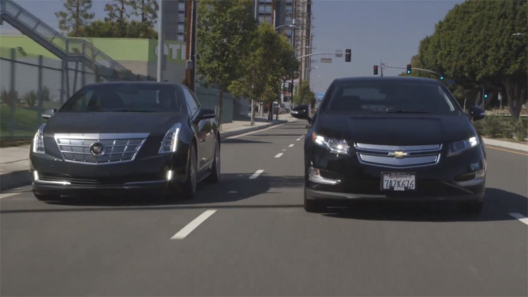 Cadillac ELR Compared to Chevrolet Volt: Video