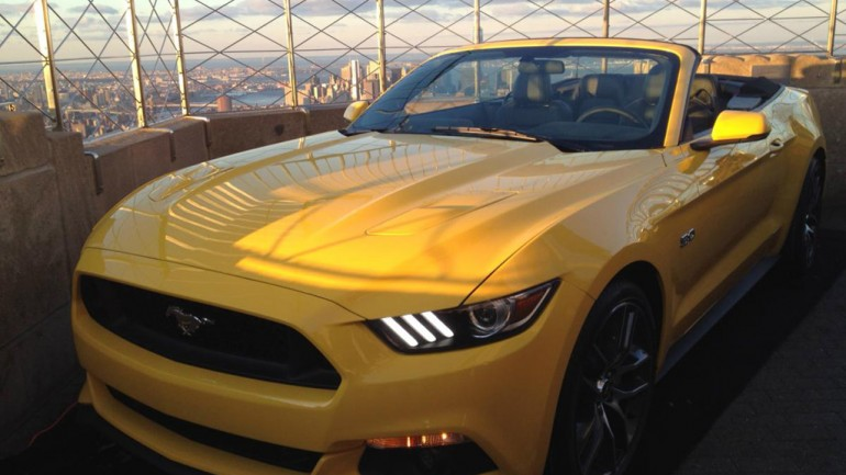50 Years – 2015 Ford Mustang Displayed 1,000 Feet Above Manhattan Atop Empire State Building