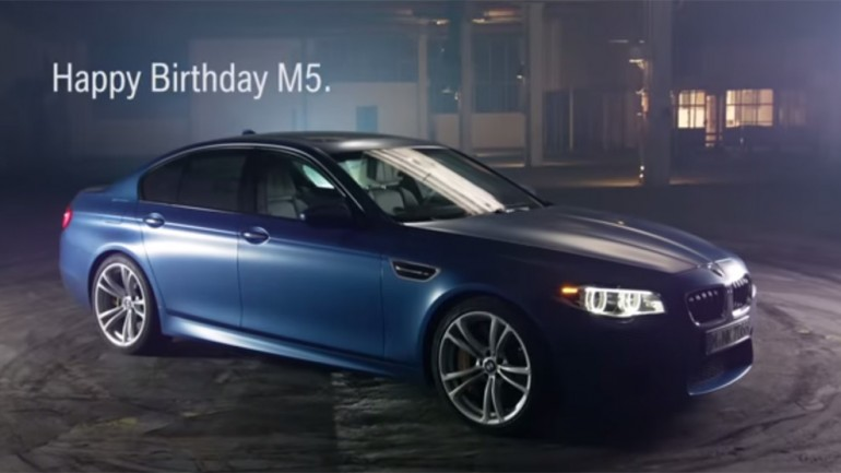 Happy Birthday BMW M5 – 30 Years Of ///M5 Celebrated in Quick Video