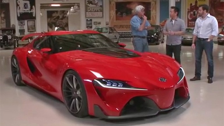 Jay Leno Talks Over and Checks Out Toyota FT-1 In His Garage: Video