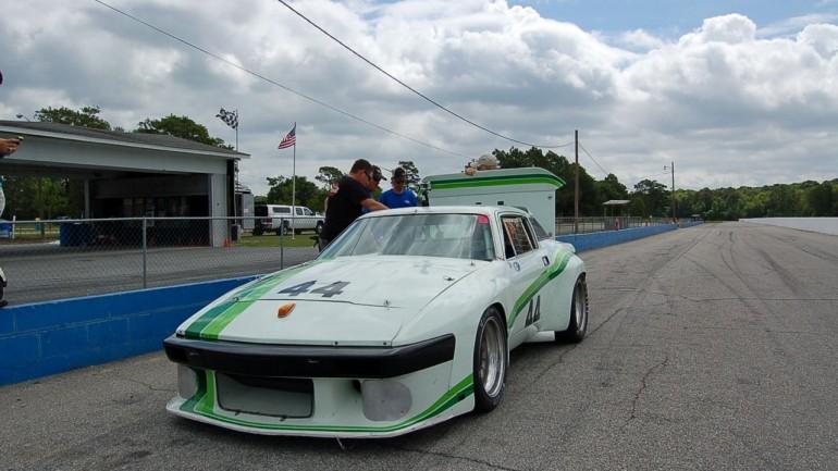 Testing Bill Warner's Triumph TR-8 at Roebling Road Raceway
