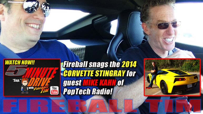 5MINUTE DRIVE Episode 29 with PopTechRadio Host Mike Kahn & the 2014 Corvette Stingray!