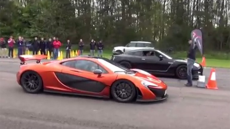 McLaren P1 Takes Nissan GT-R w/200+ MPH Run: Video