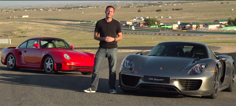 Motor Trend Tests New Porsche 918 and Contrasts with Legendary Porsche 959: Video