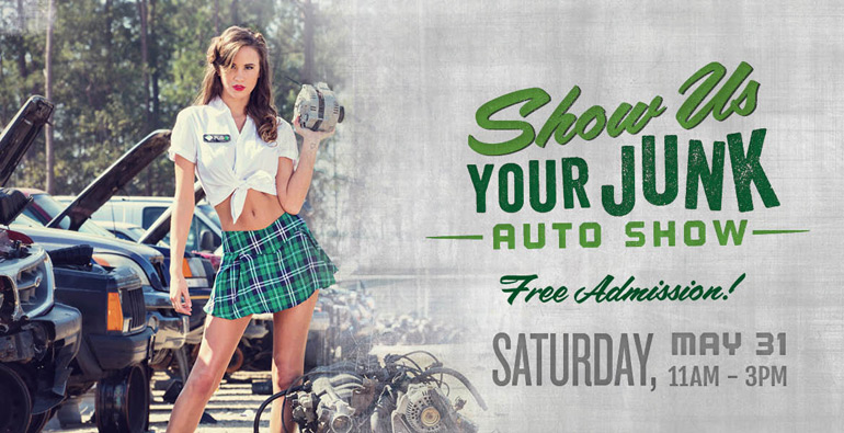 'Show Us Your Junk' Auto Show at Go Pull-It Saturday May 31st