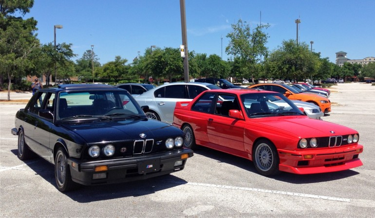 1988 BMW M5 and M3