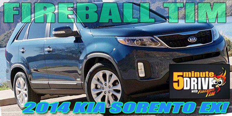 5MINUTE DRIVE features the rocket-powered 2014 KIA SORENTO EX AWD