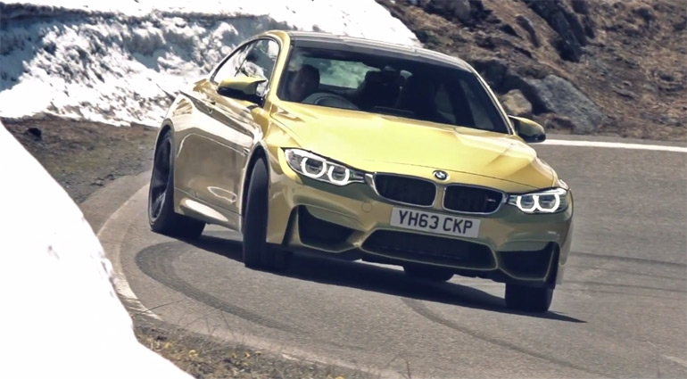 All-New BMW M4 Takes On The Mountains: Video