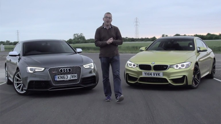 2015 BMW M4 Battles Audi RS5 On The Track: Video
