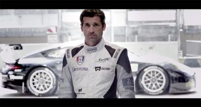 porsche and patrick dempsey inspire in preparation for 24 h of le mans 2014 video. Black Bedroom Furniture Sets. Home Design Ideas