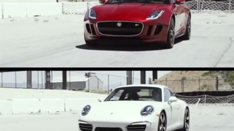 Jaguar F-Type Coupe R Goes Against Porsche 911 50th Anniversary Edition in Motor Trend Head 2 Head: Video