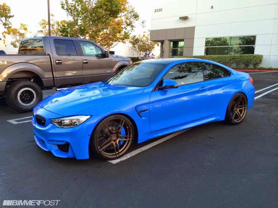 2015 BMW M4 In Yas Marina Blue Takes On Tasteful Aftermarket