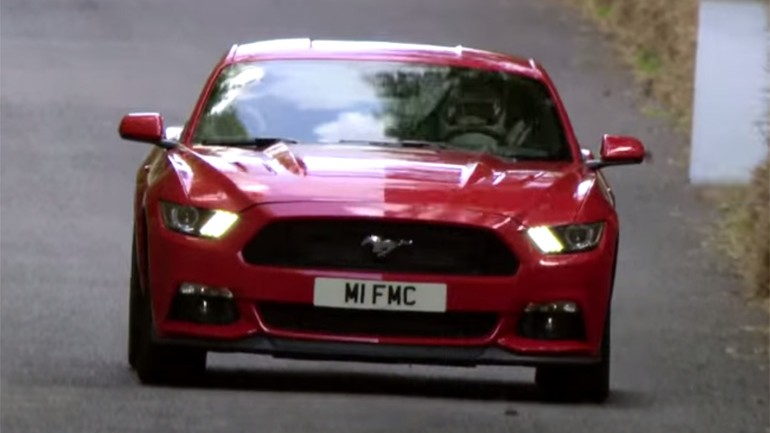 2015 Ford Mustang GT Hill Climb Action at Goodwood: Video
