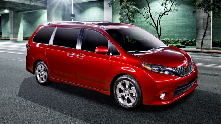 Toyota Reveals New 2015 Sienna Minivan From Out of Nowhere (Space) All Online