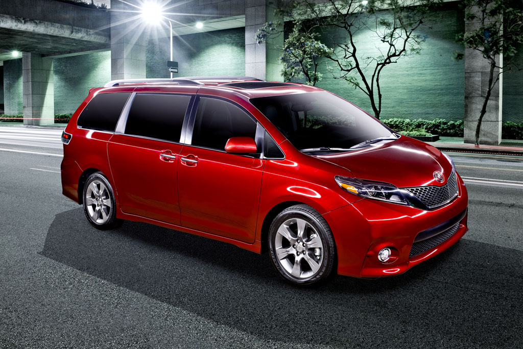 toyota reveals new 2015 sienna minivan from out of nowhere. Black Bedroom Furniture Sets. Home Design Ideas