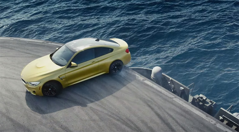 "2015 BMW M4 Gets the ""Ultimate Racetrack"" On An Aircraft Carrier: Video"