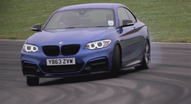 Drifting in the BMW M235i: How to Drift and An Epic Driftmob – Videos