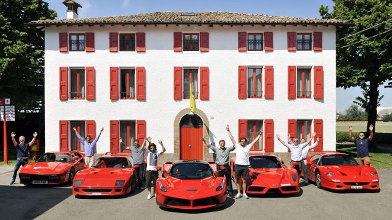 A Road Trip with the most exclusive Ferraris: Video