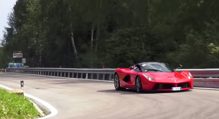 Trento-Bondone Hill Climb Exotics Drift and One Very 'HOT' LaFerrari: Video