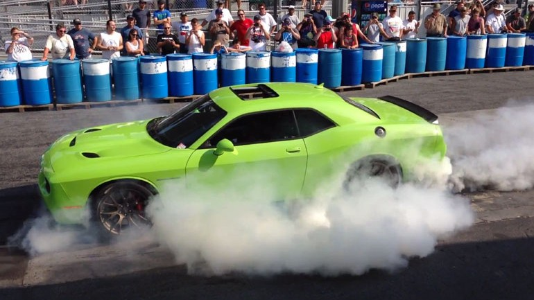 Ralph Gilles Instantly Becomes King of Burnouts In New 707-hp Challenger Hellcat: Video