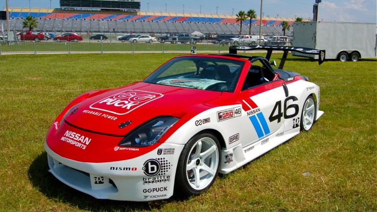 Gymkhana Grid 350z restored by East Ridge High School Students Appears at Daytona International Speedway