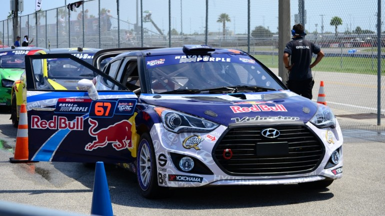 Rhys Millen Takes Win at 2014 Global Rallycross Daytona in his Hyundai Veloster Turbo