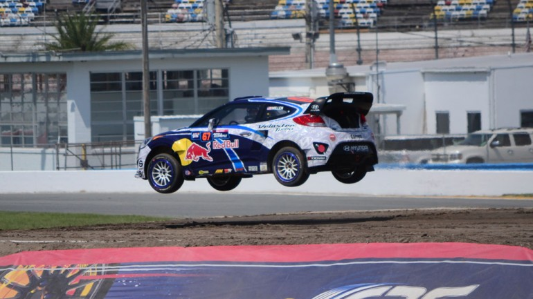 VIDEO: Hot Laps in the GRC Rallycross Winning Rhys Millen Hyundai Veloster