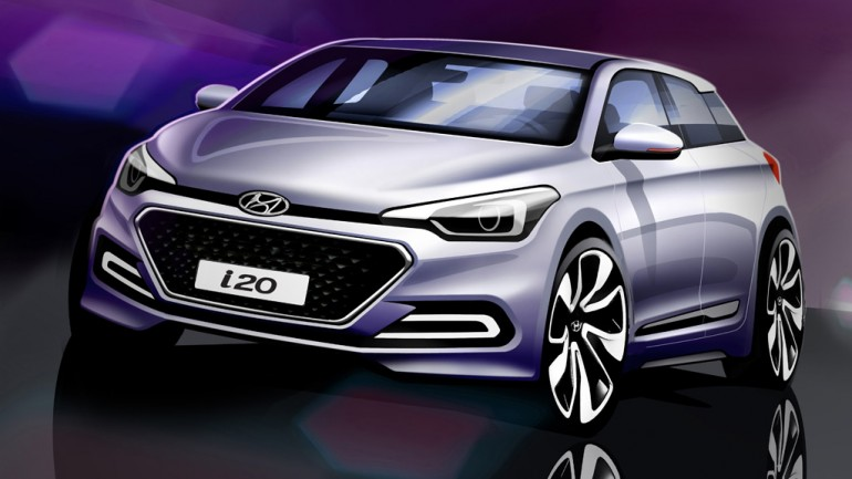 Hyundai i20 Sketches Hints at New European Style For Next SuperMini Hatchback