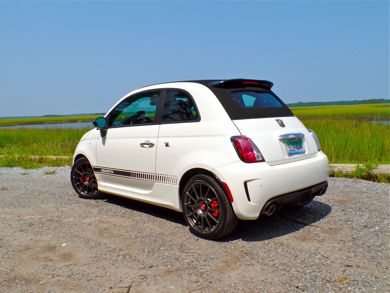 in our garage 2014 fiat 500c abarth cabrio. Black Bedroom Furniture Sets. Home Design Ideas