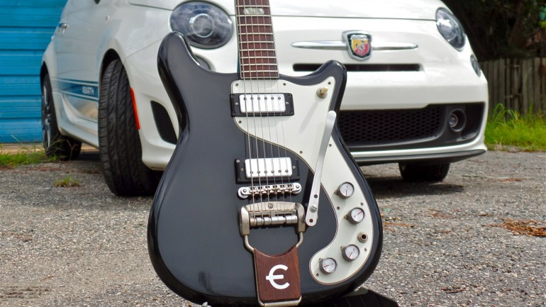 Cars and Guitars: 50 Years of Mediterranean Greatness – 1964 Epiphone Crestwood Custom and the 2014 Fiat 500c Abarth
