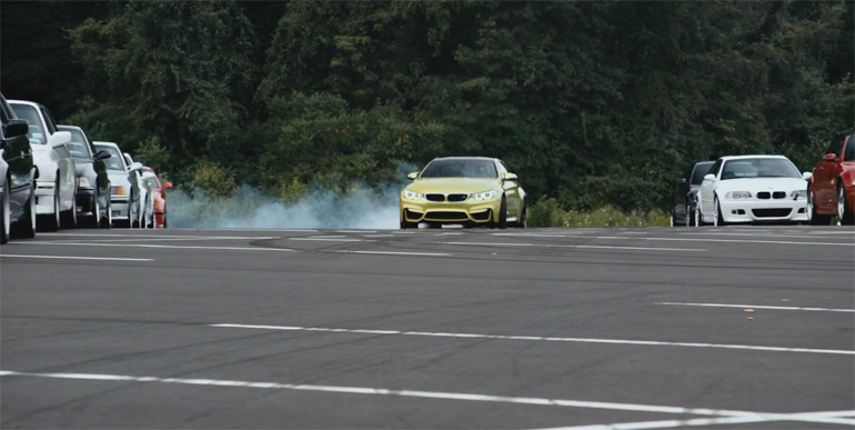 The All-New BMW M4 Gets Initiated Into the ///M Family with its Predecessors: Video