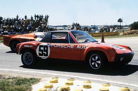 The 914-6 GT, Sebring 1971-wearing Brumos' famous #59, Peter Gregg and Hurley Haywood took this car to 14th Overall and 2nd in class GTU.  Photo by Bill Warner.